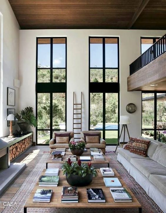 upper windows modern interior How to Make the Most of High Ceilings