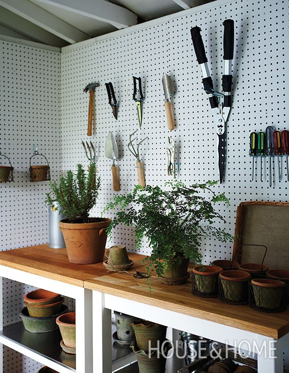 display gardening tools in your shed Shed Renovation: Tips and Ideas