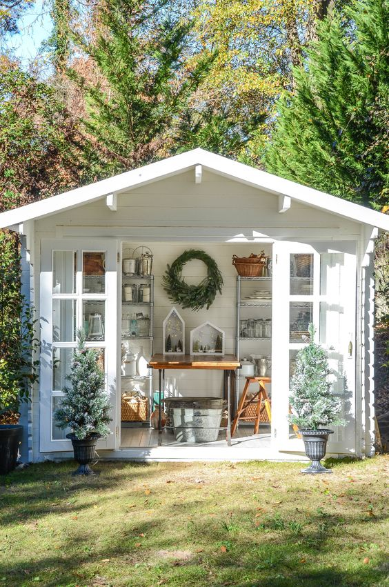 white garden shed Shed Renovation: Tips and Ideas