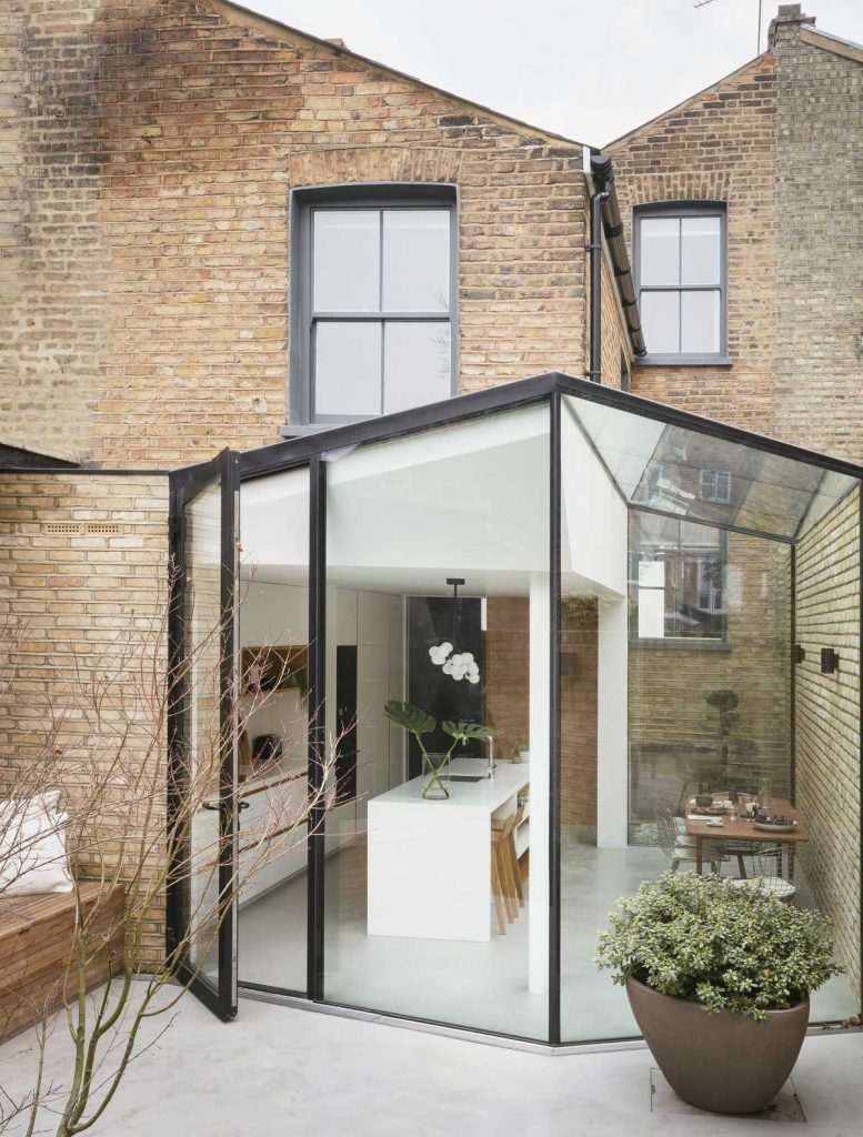%name Structural glass prism was added to this townhouse in London