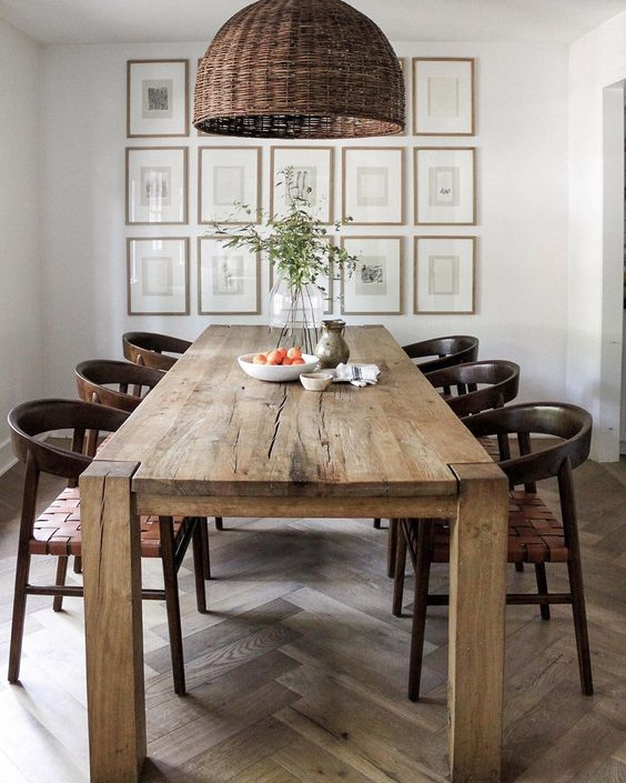 large dining table How to Make Your Home More Guest Friendly