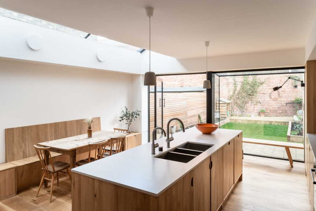 %name A Spacious Kitchen Side Extension by Bradley Van Der Straeten Architects