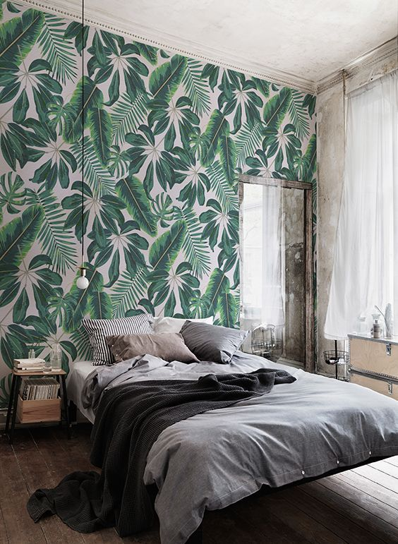 tropical patterned bedroom Wall Accent Ideas to Spice up Your Interior Design