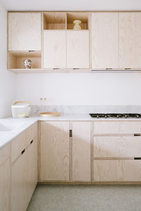 plywood kitchen Effective Ways to Utilize Wood in Interior Design