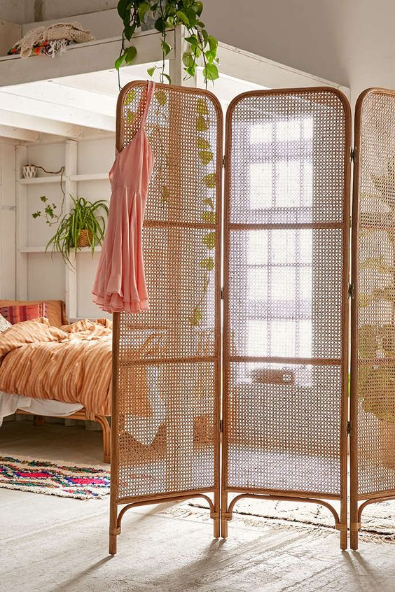 reitan screen Adding Warmth To A Guest Bedroom With Boho Chic Accessories