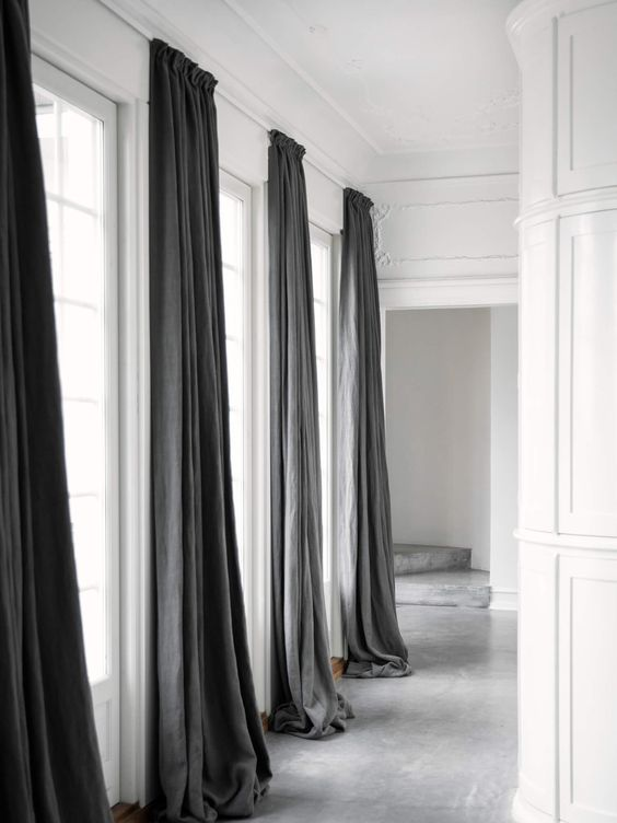 tall curtains How a Change in Curtains Can Completely Revitalize a Room