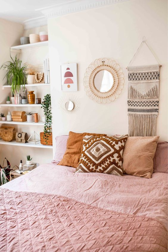 boho chic bedroom 50+ Aesthetic Bedrooms And 9 Tips On How To Decorate Yours