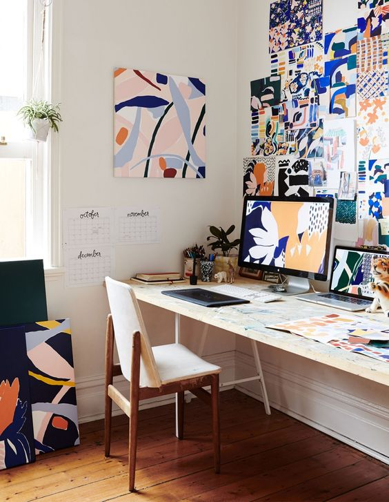 decorated home workspace Las Vegas Living: Tips to Turn Your Spare Room into an Office