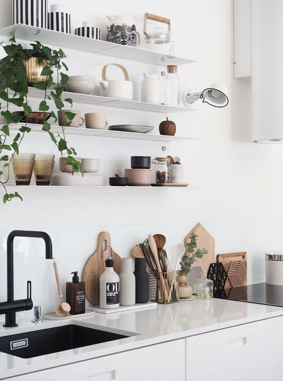 floating shelves These 40+ Kitchen Decor Ideas Will Inspire You To Renovate Yours