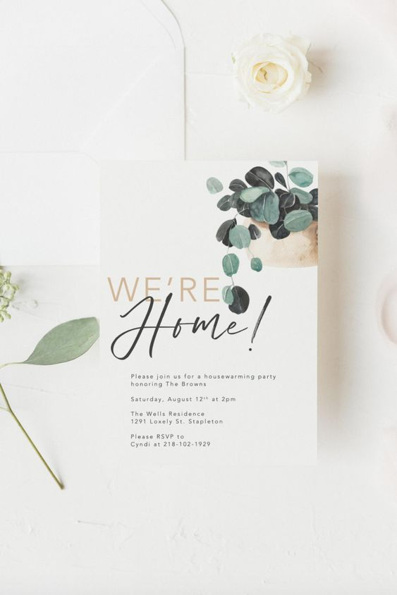 housewarming party invitation Tips for Choosing The Perfect Invite for Your House Warming Party