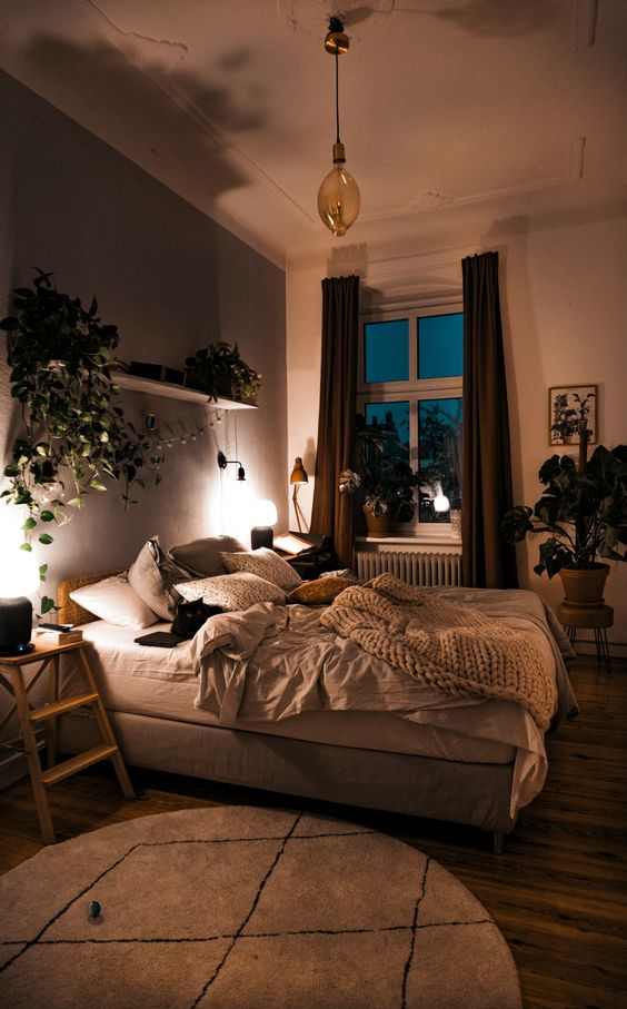 minimalist bedroom with heigh ceiling 50+ Aesthetic Bedrooms And 9 Tips On How To Decorate Yours