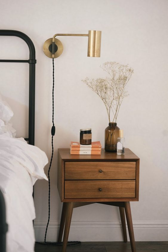 minimalist nightstand 50+ Aesthetic Bedrooms And 9 Tips On How To Decorate Yours