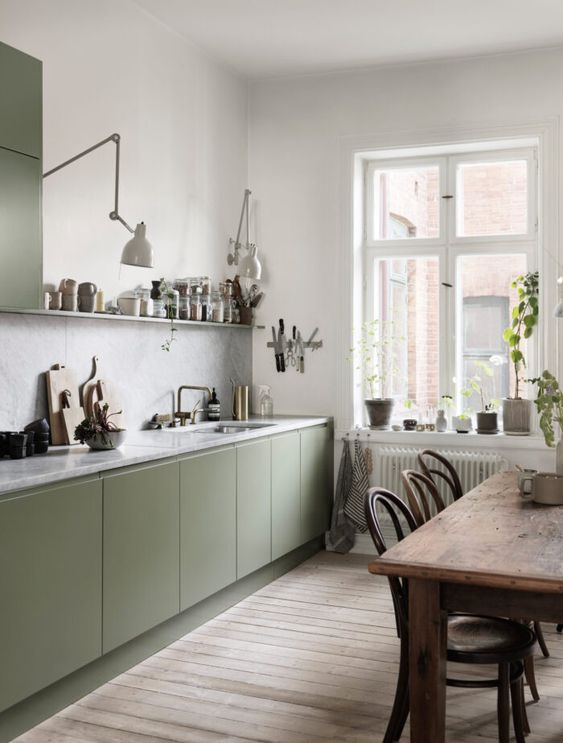 olive cabinets These 40+ Kitchen Decor Ideas Will Inspire You To Renovate Yours