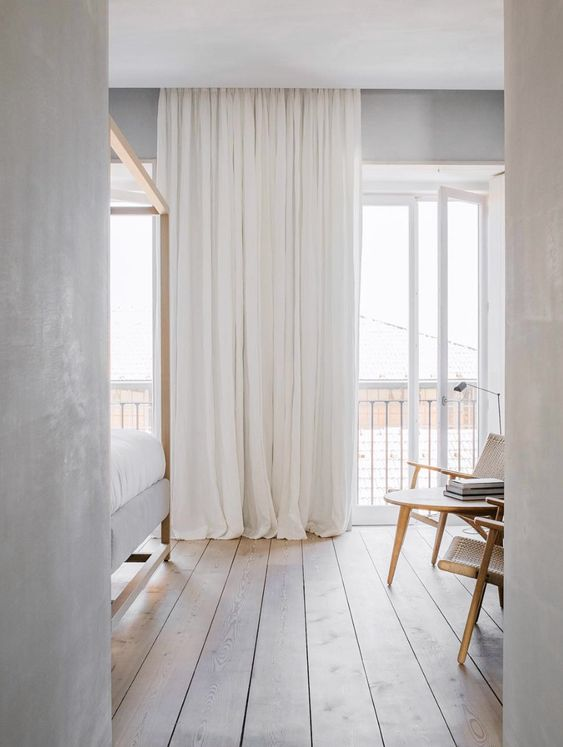 thin and light curtains How to Turn Your Home Décor into a Minimalist One