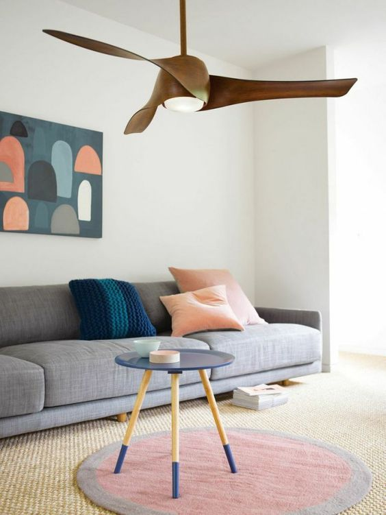 large wooden ceiling fan How to Choose a Ceiling Fan Size and Style for your Home