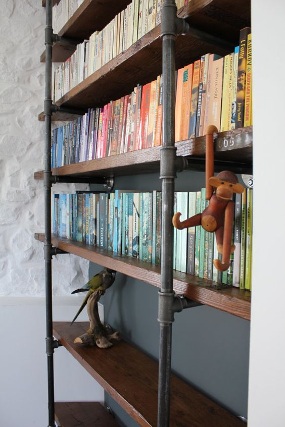 reclaimed wooden industrial style shelving How Reclaimed Materials Are Making Industrial Design More Accessible