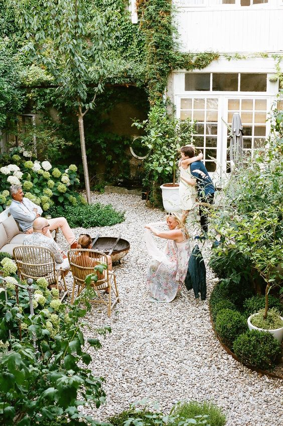 secret courtyard garden Create a Family Garden to Improve Your Life