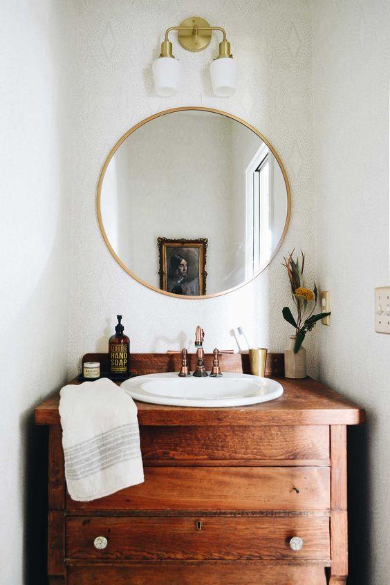 repurposed dresser vanity vintage bathroom Love Vintage? Heres Some Home Decor Ideas You Need to Try