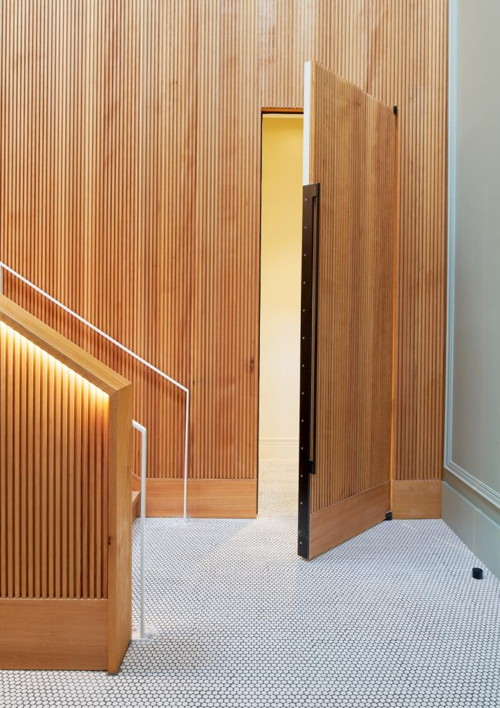 %name A renovation of a 1880s office building lobby by MAGIC architecture