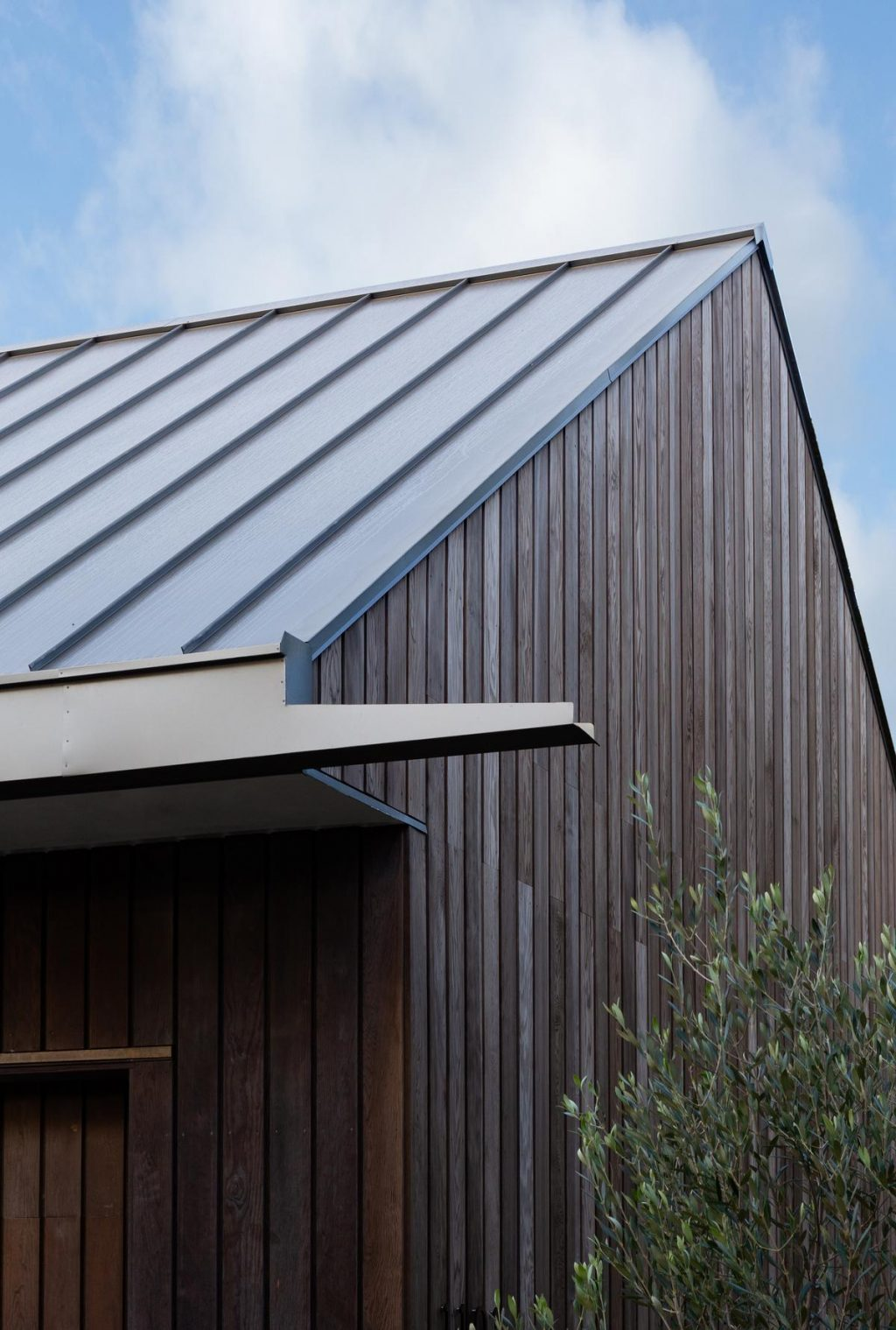 Douglas fir clad volumes in Belmont Park by Tim Cuppett Architects
