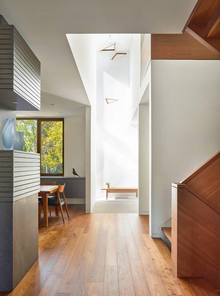 light entering through an operable skylight 762x1024 Garden Circle House by Dubbeldam Architecture + Design