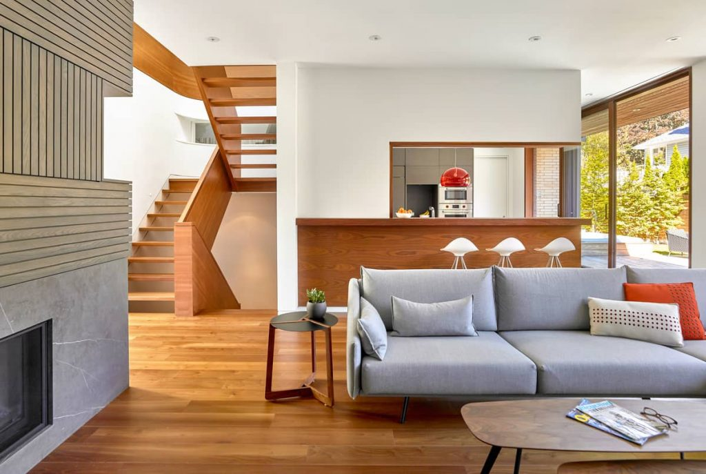 living room 1024x687 Garden Circle House by Dubbeldam Architecture + Design