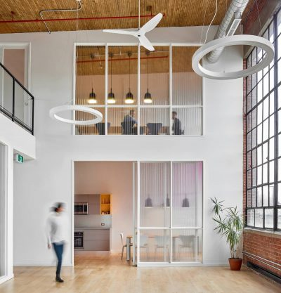 An Old Transformer Factory Was Converted into a Bright Office