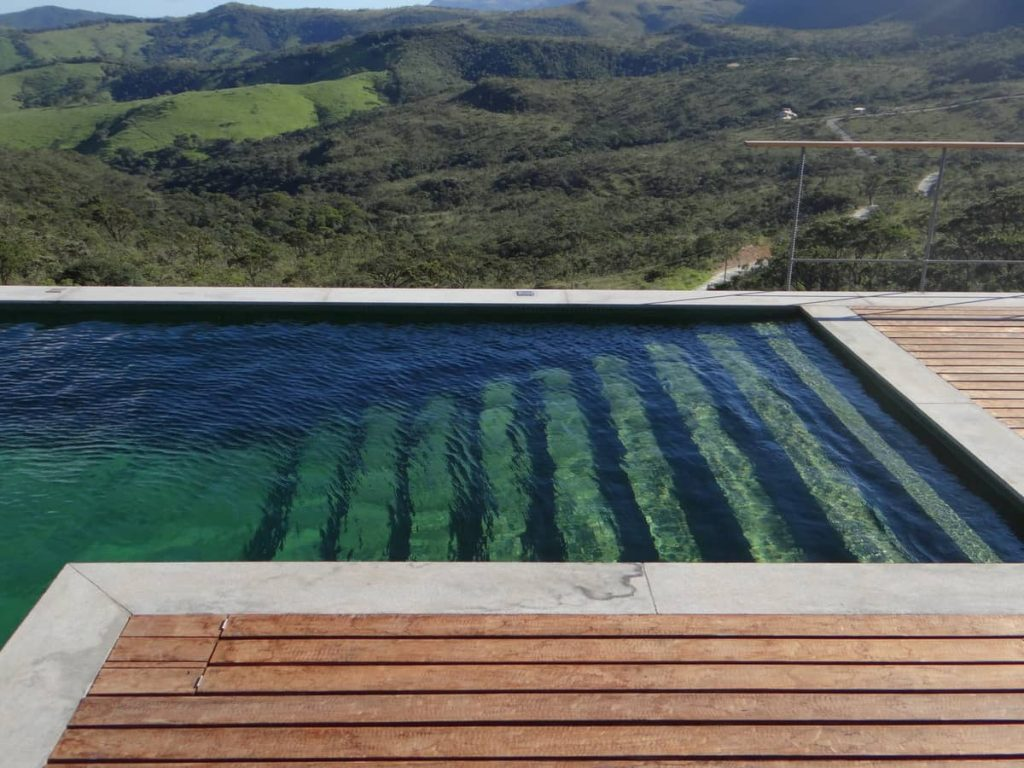 swimming pool with a stunning view 1024x768 A Modern Concrete House In Brazil With Stunning Views Of The Sierra da Moeda