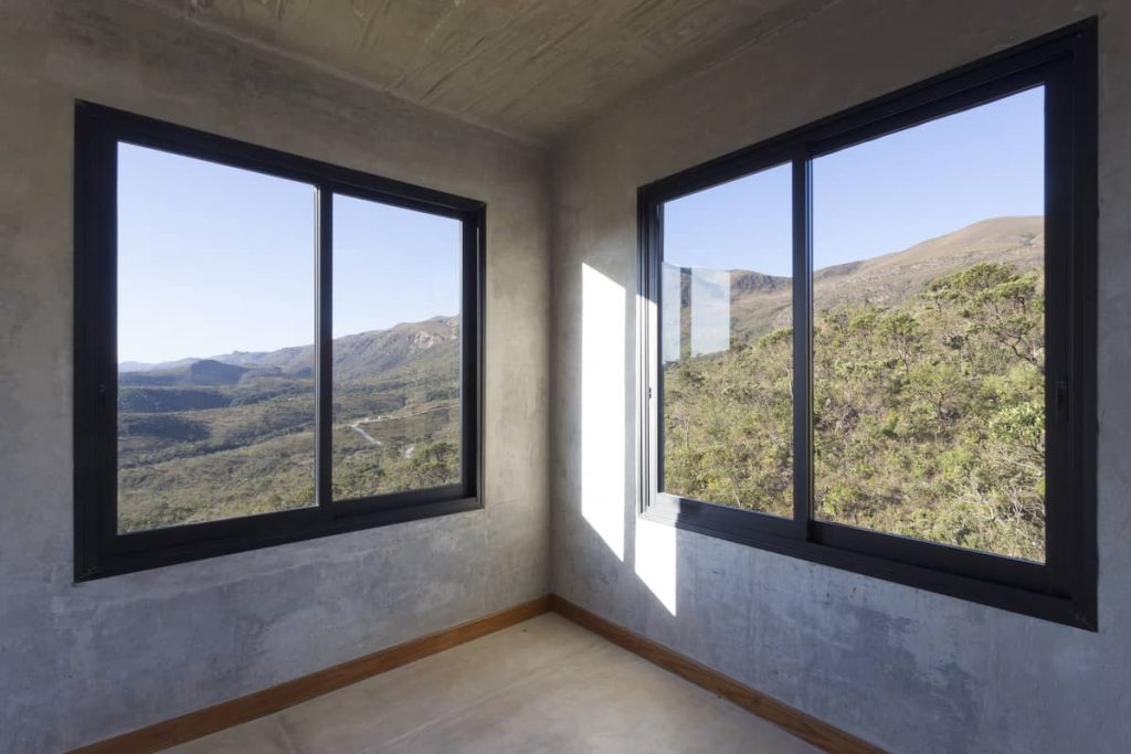 the bedroom 1024x683 A Modern Concrete House In Brazil With Stunning Views Of The Sierra da Moeda