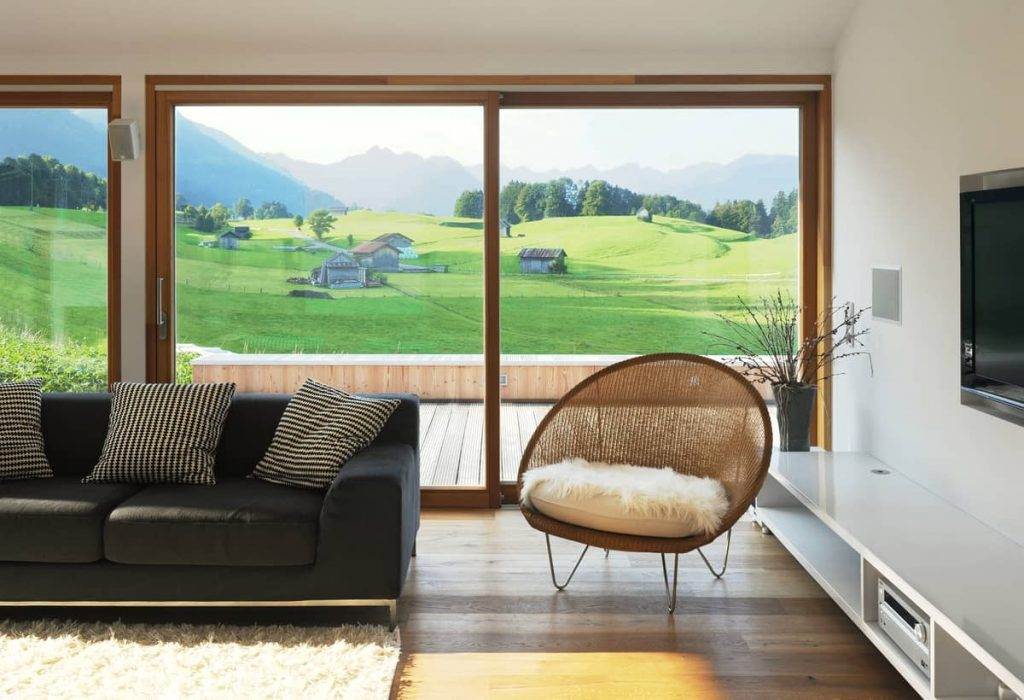 a view from the living room 1024x700 A Summer Residence in the Midst of Green Clover Meadows