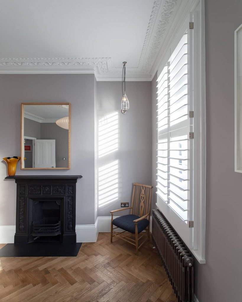 bedroom fireplace 819x1024 A Meticulous Restoration of the Original Victorian Terrace House