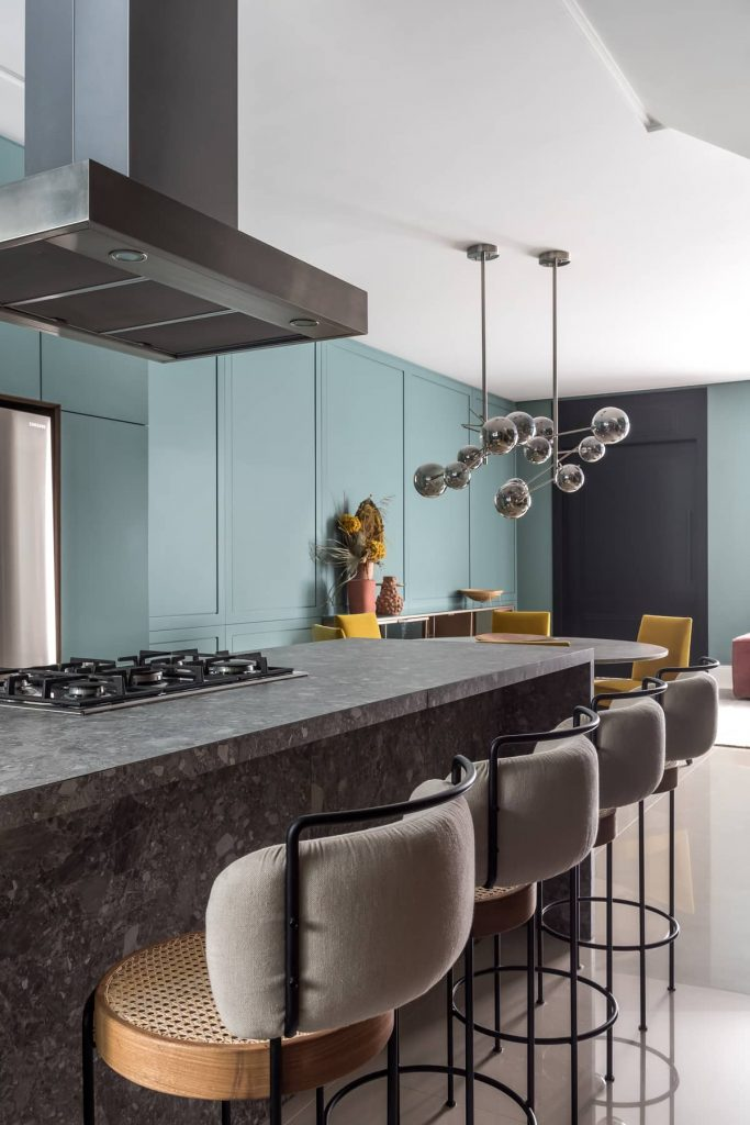 breakfast bar 683x1024 Colorful Apartment Interior by TN Architecture