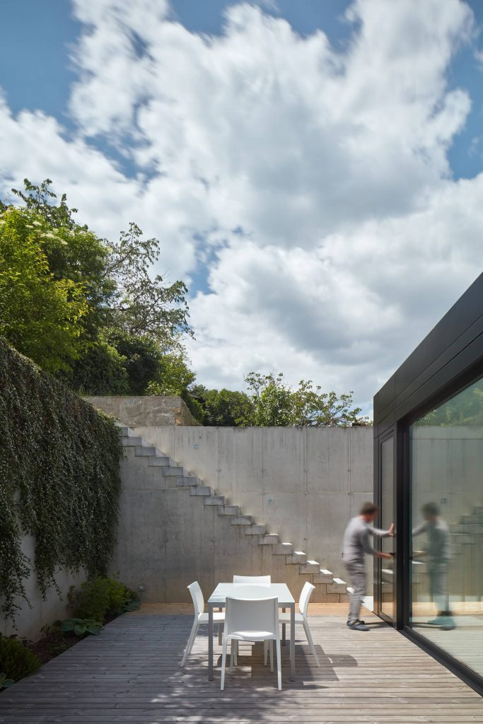 decking 683x1024 Family House With a Green Roof in the River Valley
