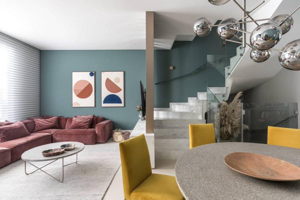 gathering area 1024x683 Colorful Apartment Interior by TN Architecture