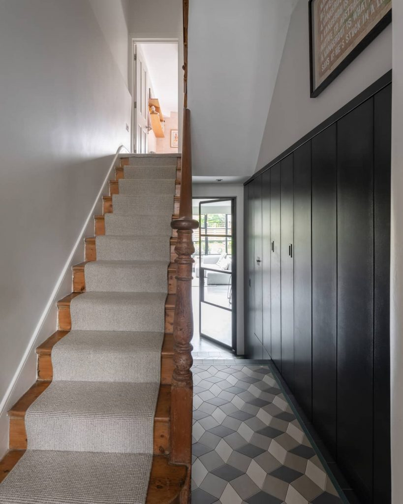hallway storage 819x1024 A Meticulous Restoration of the Original Victorian Terrace House