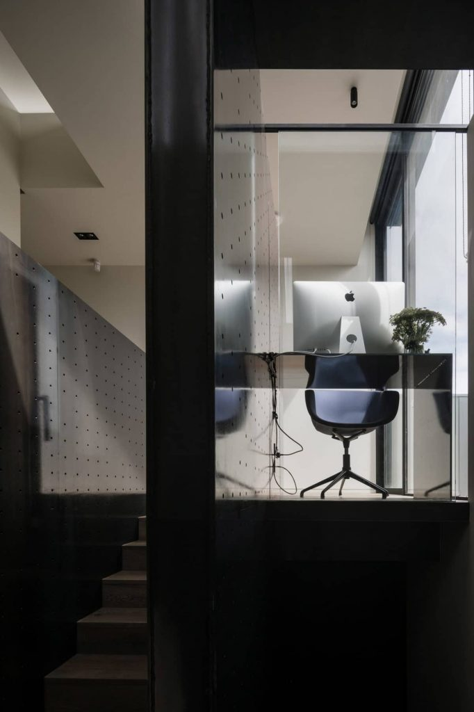 home office 682x1024 A Zinc Clad Addition by Robert Simeoni Architects