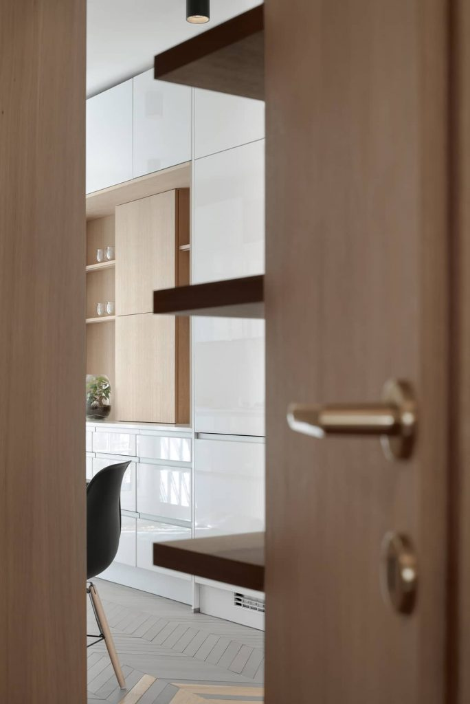 integrated bespoke joinery 684x1024 A Two Bedroom Flat Was Reconfigured Into a Modern Apartment