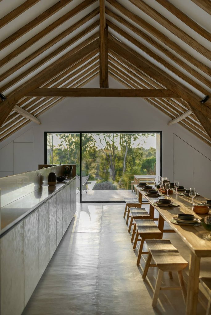 interior of an old barn renovation 684x1024 Enter Arquitectura Converts an Old Warehouse Into a Family Home