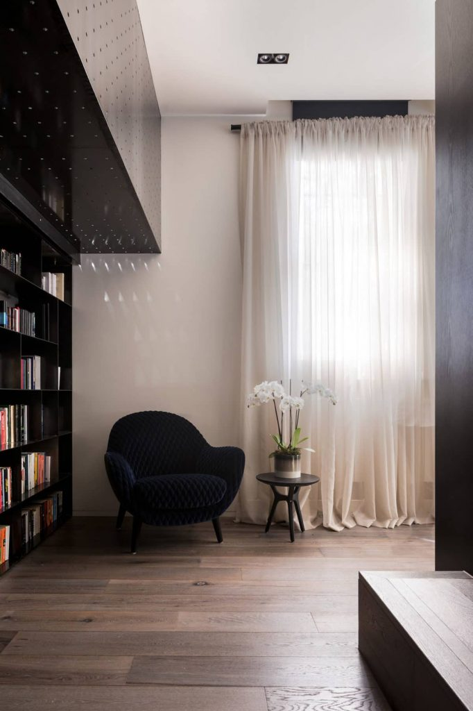 living room 682x1024 A Zinc Clad Addition by Robert Simeoni Architects