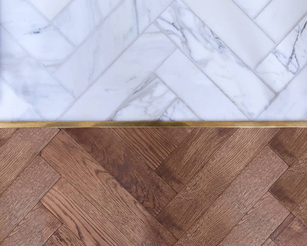 oak and marble parquet 1024x819 A Meticulous Restoration of the Original Victorian Terrace House