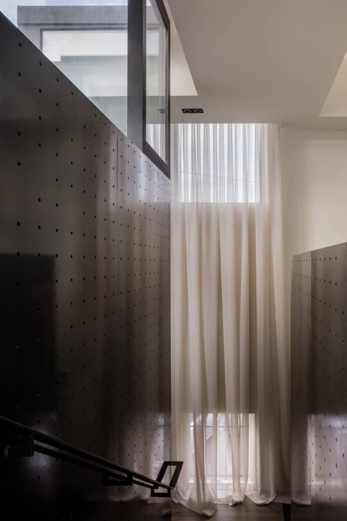 perforated steel panels 682x1024 A Zinc Clad Addition by Robert Simeoni Architects