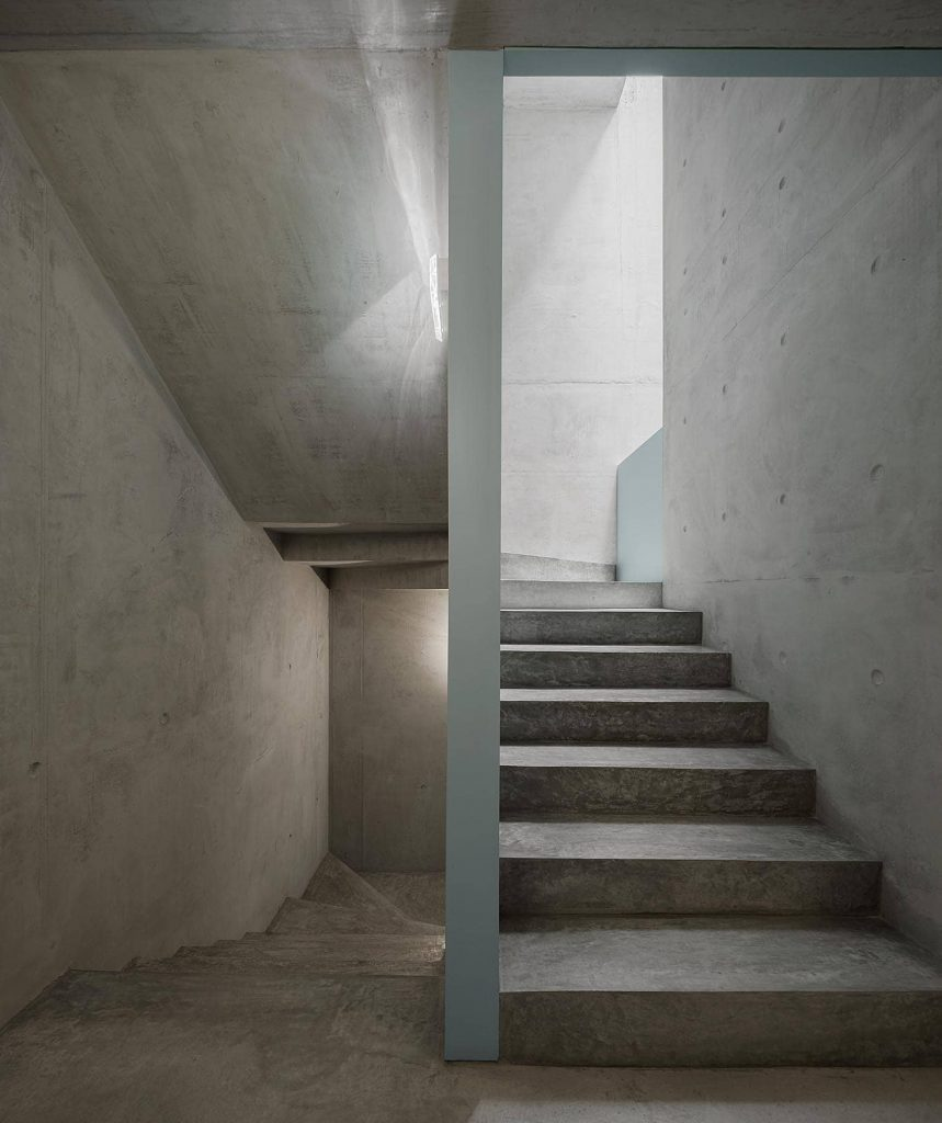 staircase 859x1024 Miguel Bombarda Residential Building by Paula Santos Arquitectura