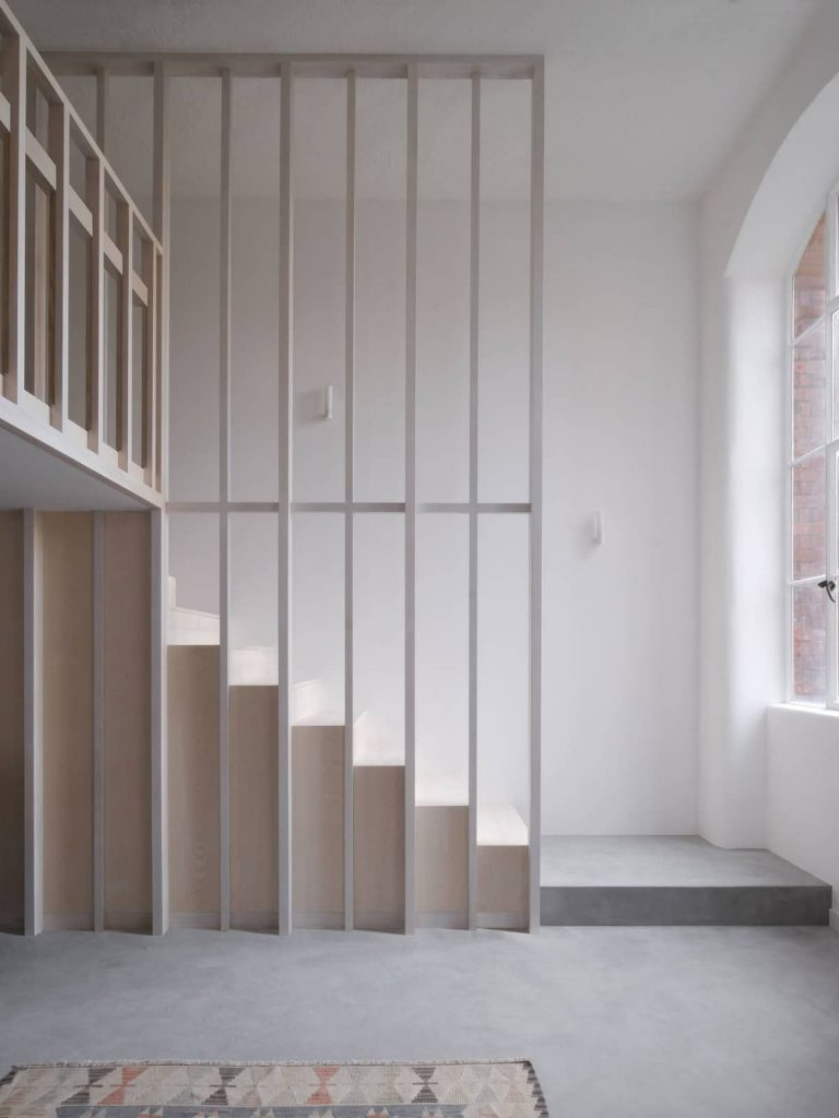 timber stair 768x1024 A Converted Matchstick Factory Becomes a Beautiful Apartment