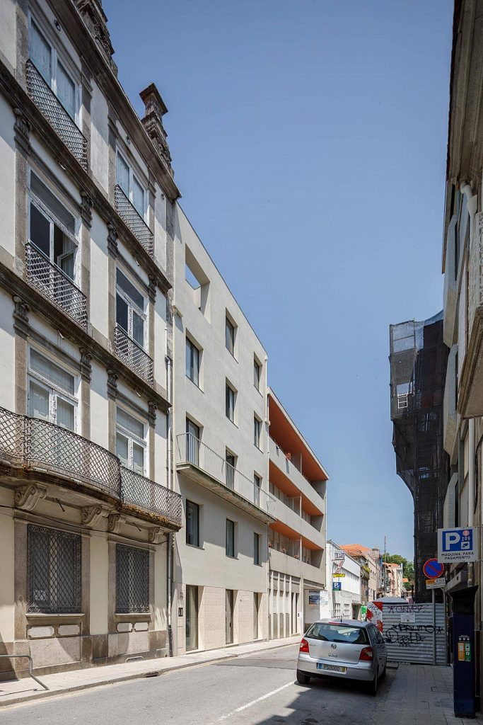 view from the street 683x1024 Miguel Bombarda Residential Building by Paula Santos Arquitectura