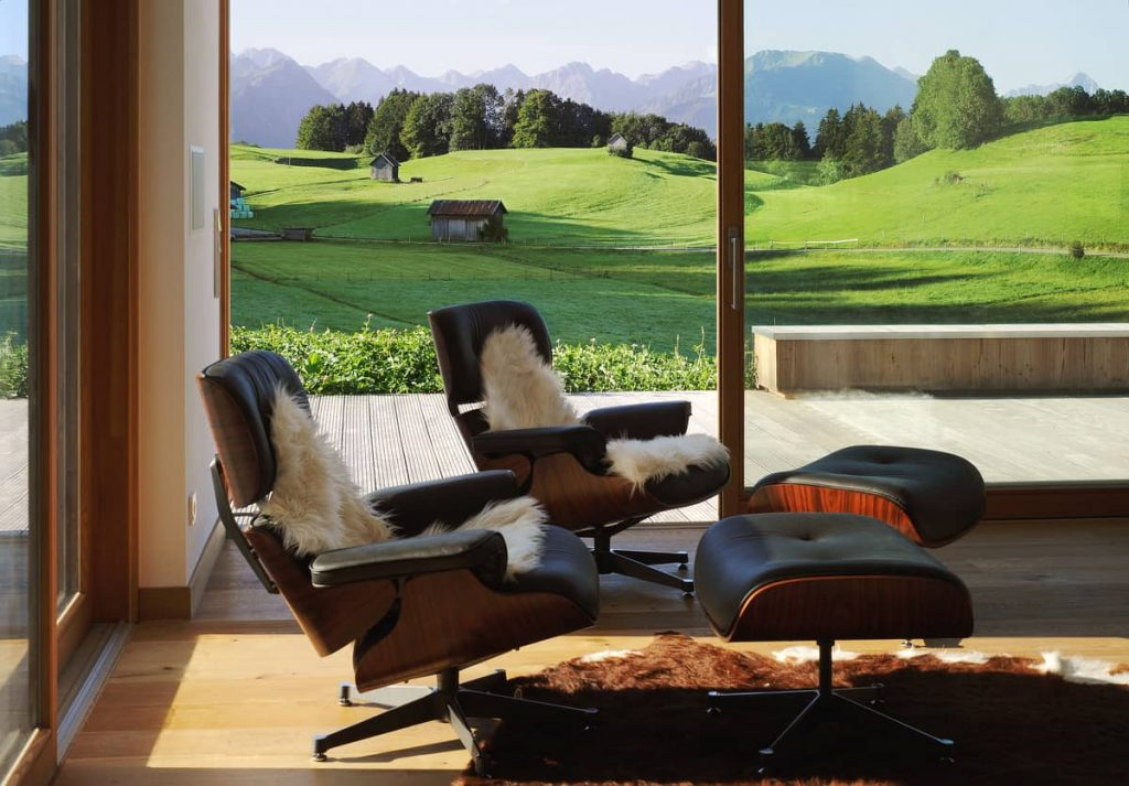 view to the allgau alps 1024x713 A Summer Residence in the Midst of Green Clover Meadows