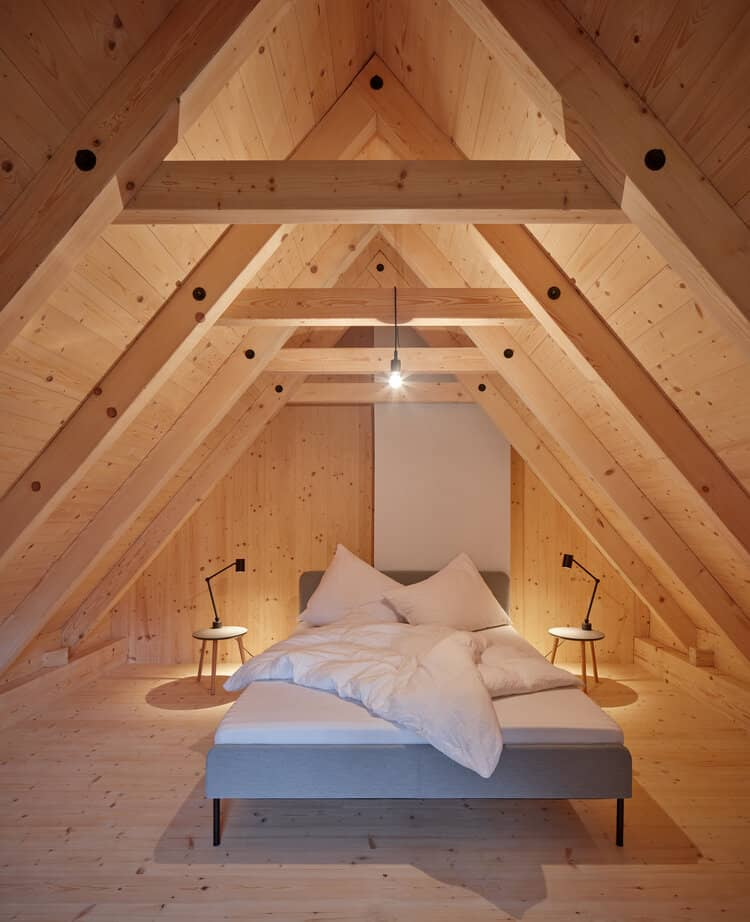 bedroom 2 A Cozy Cottage in the Woods by MjöLK Architects