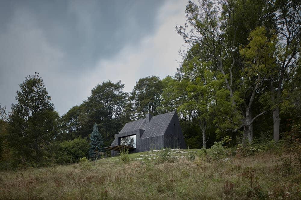 mjolk bukovka boysplaynice 02 A Cozy Cottage in the Woods by MjöLK Architects