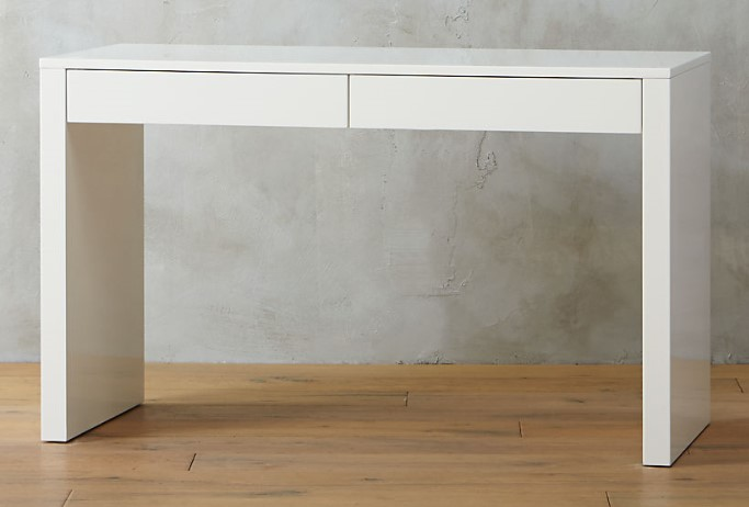 runway white lacquer desk Our Picks: 10 Best White Home Office Desks You Can Get Right Now