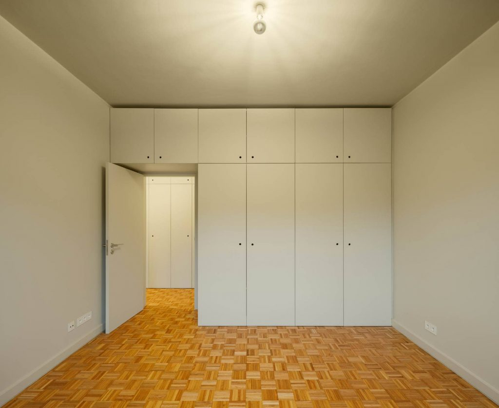 bedroom 1024x838 Subtle Apartment Renovation by Costa Lima Arquitectos