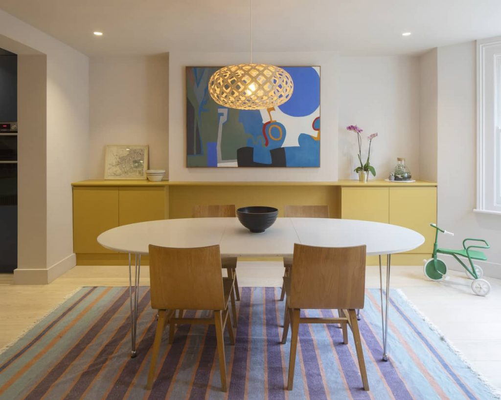 dining area 1024x819 Extension of a Victorian House in London by Sam Tisdall Architects
